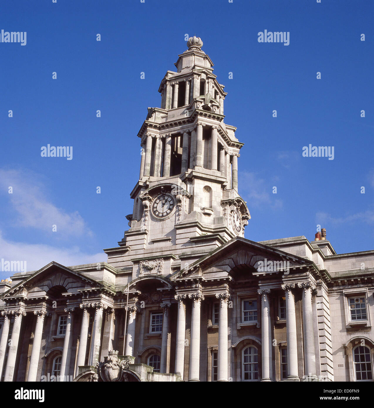 Stockport Town Hall, Stockport, Metropolitan Borough of Stockport, Greater Manchester, England, United Kingdom - Stock Image