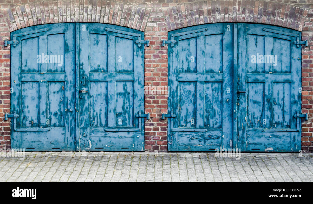 Heavy Old Doors Stock Photo