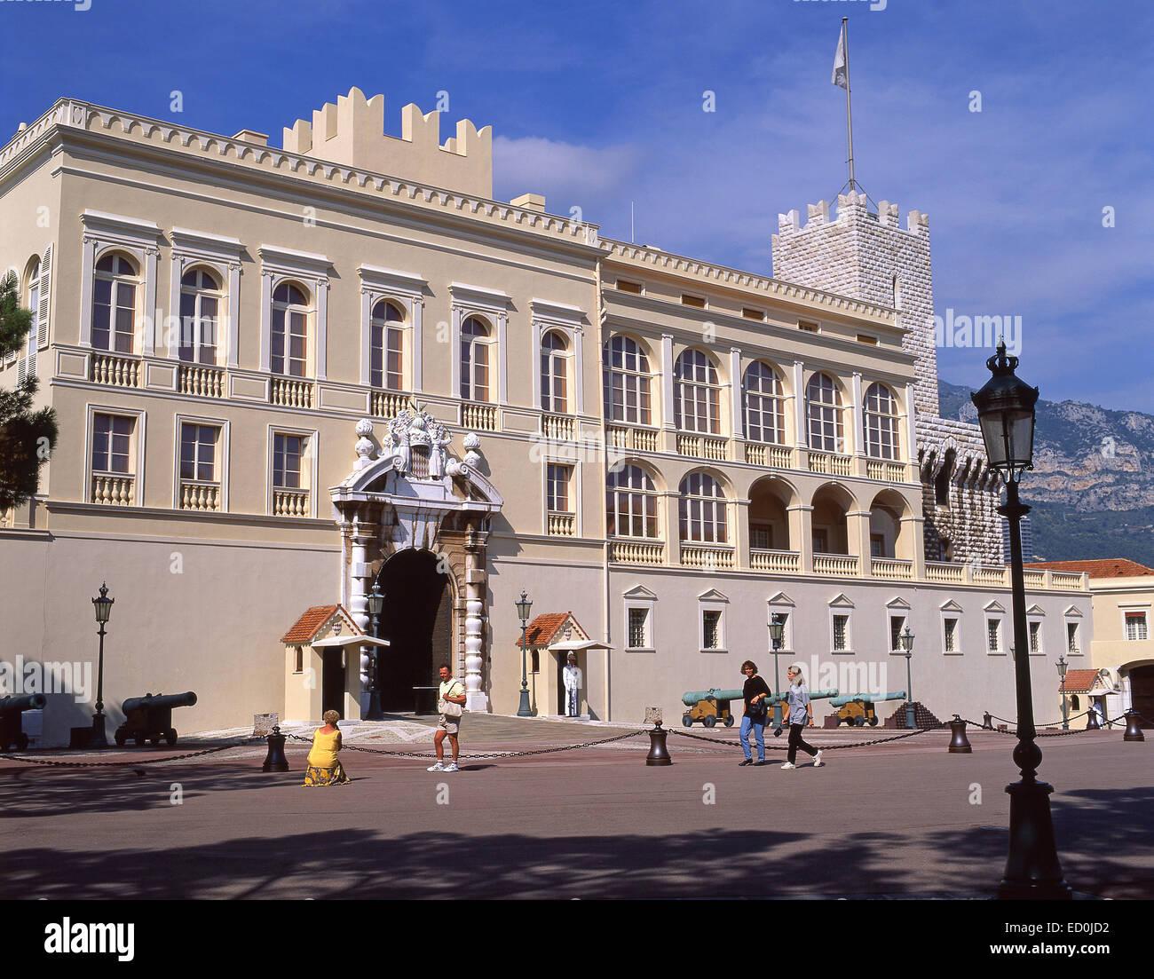 Palais Princier de Monaco, Place du Palais, Monaco-Ville, Principality of Monaco - Stock Image
