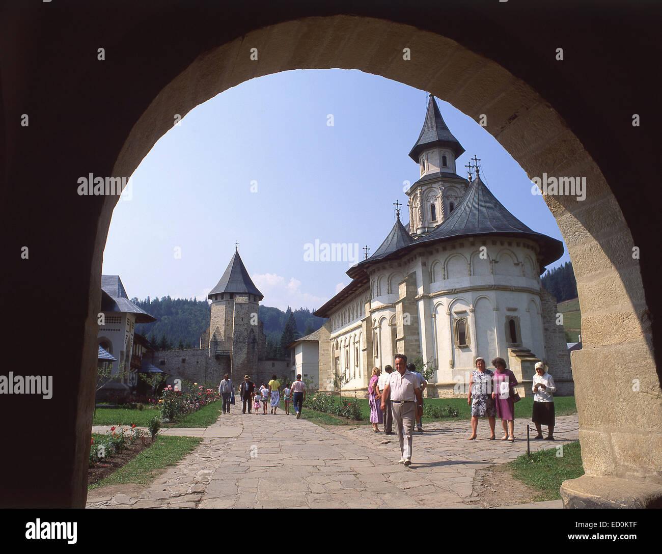 The Putna Monastery (painted churches of Moldavia), Putna, Suceava County, Nord-Est Moldova Region, Romania - Stock Image