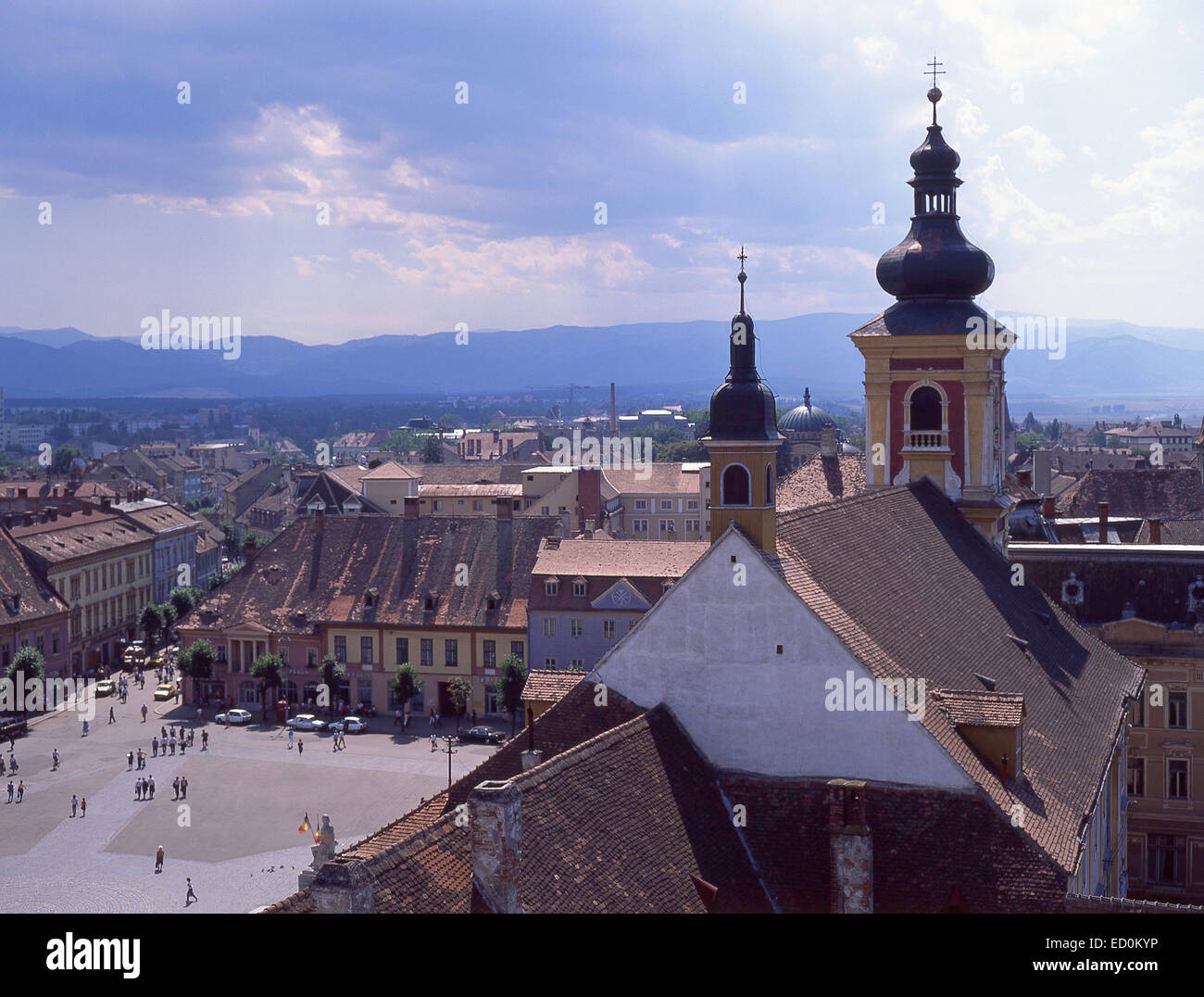 City view, Sibiu, Sibiu County, Centru (Transylvania) Region, Romania - Stock Image