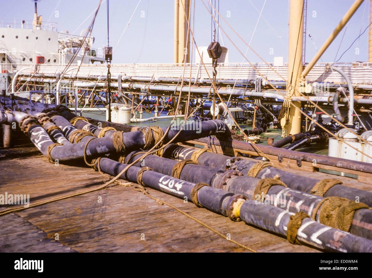 Kuwait November 1966  Loading Oil Tanker, Kuwait Oil Company Wharf