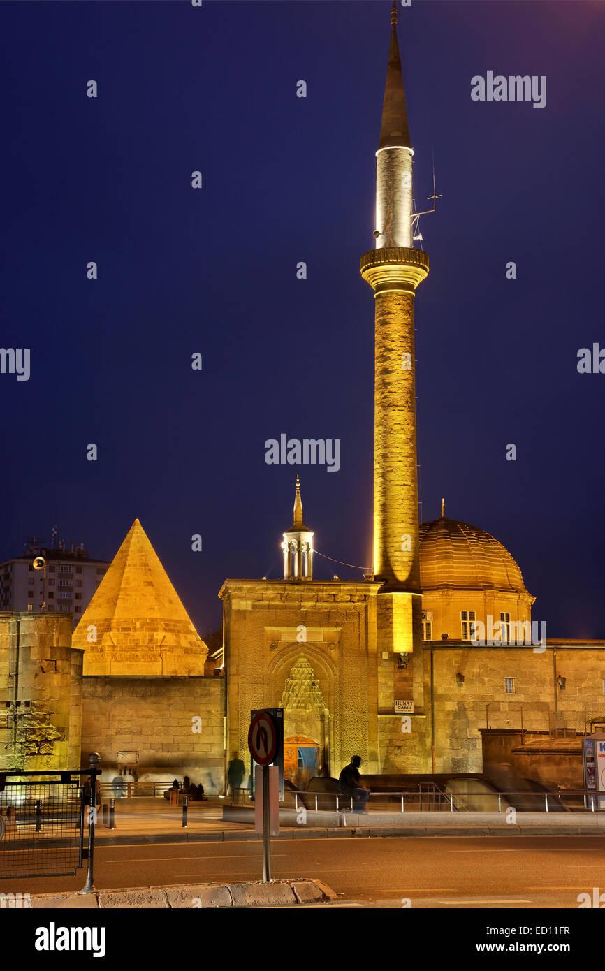 The Mahperi Hunat Hatun Mosque Complex, one of the most impressive sights of Kayseri city, Anatolia, Turkey. - Stock Image