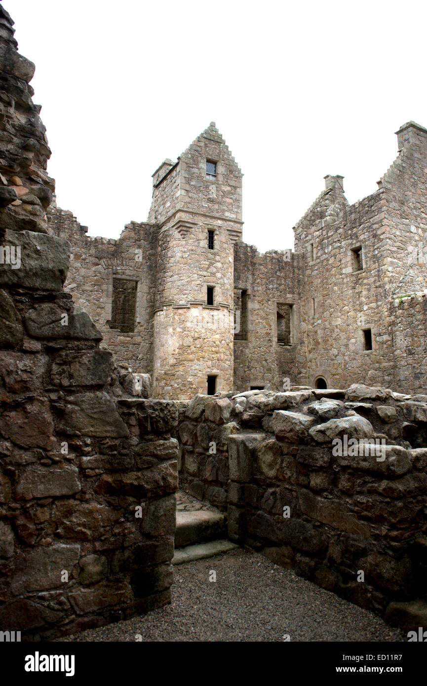 Tolquhon Castle in Grampian North East Scotland extensive works started by Sir William Forbes, 7th Lord of Tolquhon - Stock Image