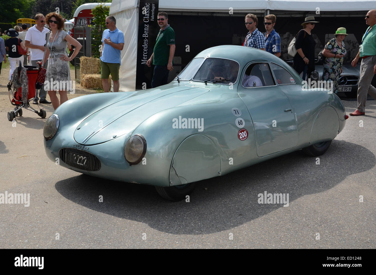 Porsche type 64 at Schloss Dyck Classic Days 2014, Germany - Stock Image