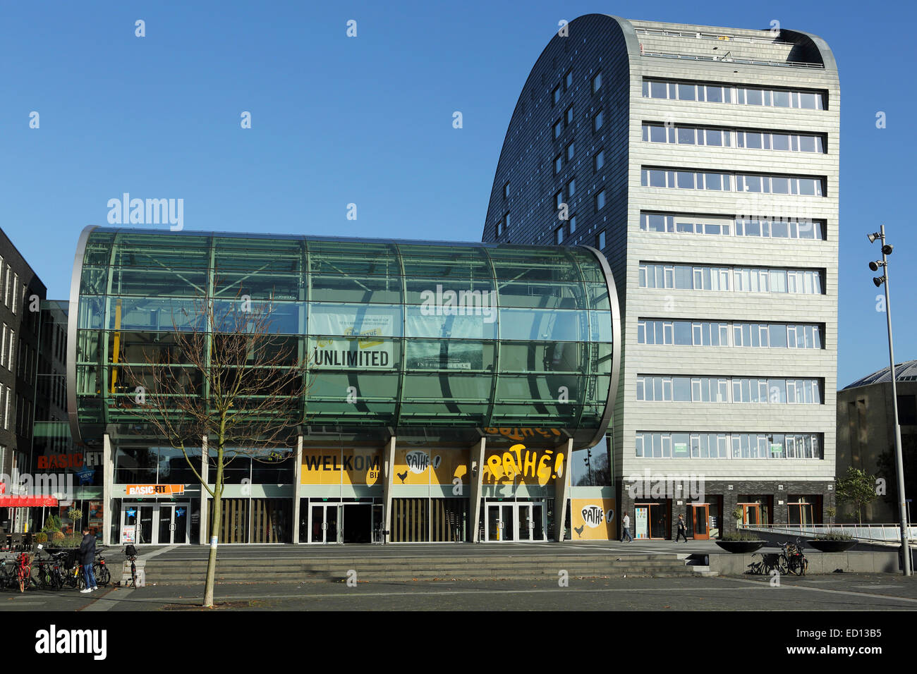 The Pathe Cinema in Breda, the Netherlands. The design of the cinema is modern. - Stock Image
