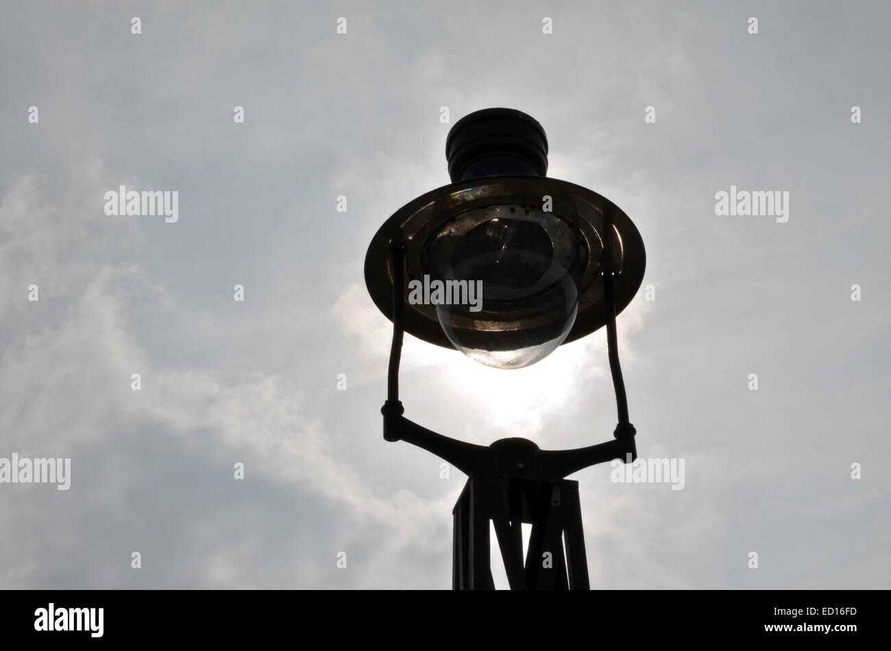 Lamp on a bridge in Dumbarton - Stock Image