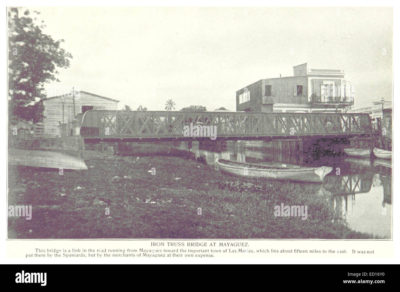 Mayaguez, Iron Truss Bridge - Stock Image