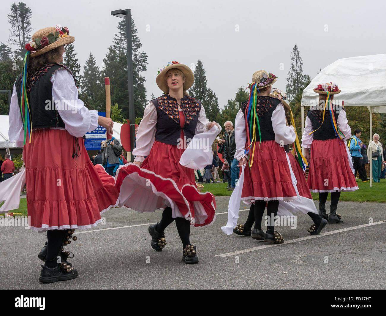 Morris dancers #17, Vancouver, British Columbia, Canada - Stock Image