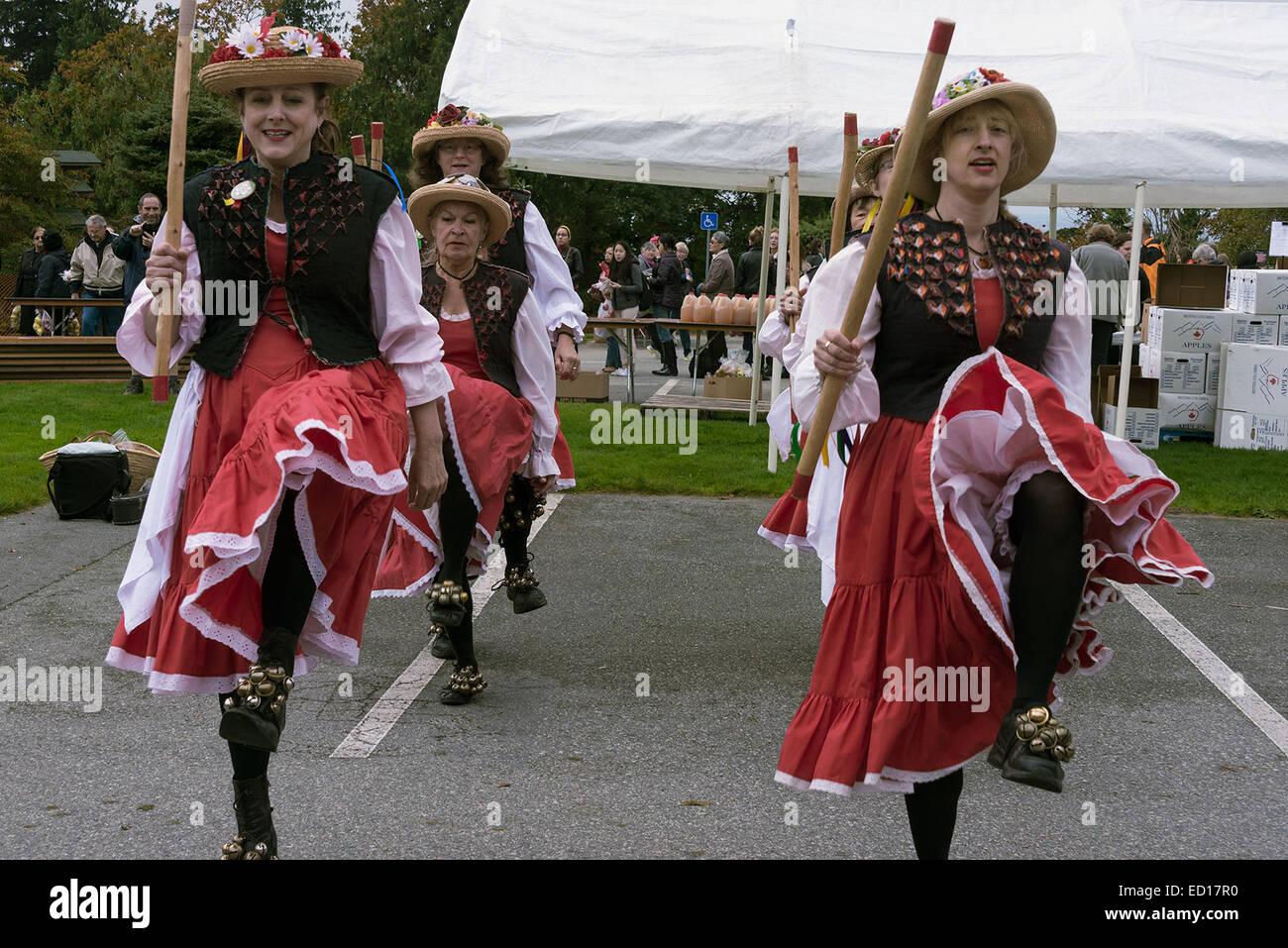 Morris dancers #10, Vancouver, British Columbia, Canada - Stock Image