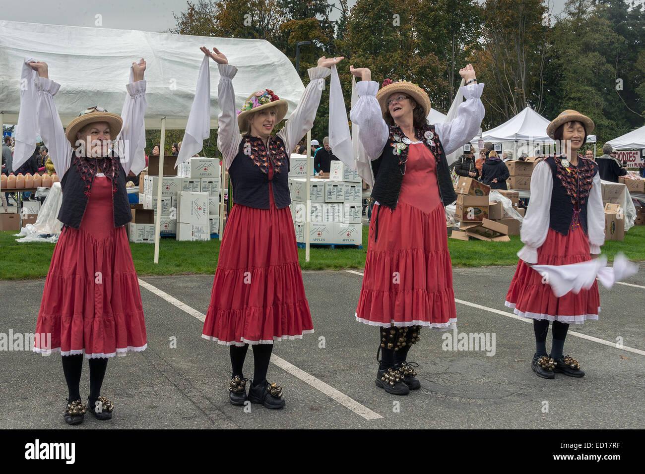 Morris dancers #8, Vancouver, British Columbia, Canada - Stock Image