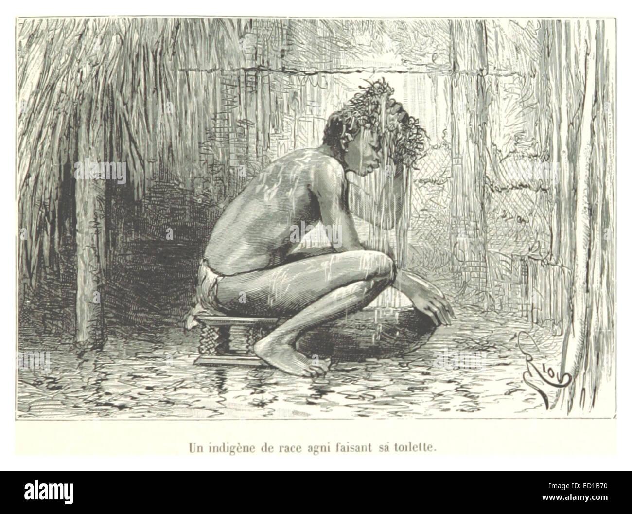 Pg241 Un indegène de race agni faisant sa toilette - Stock Image