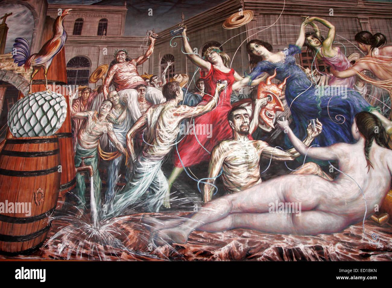 A Mural By Gabriel Flores At Sauzas La Preservancia Distillery