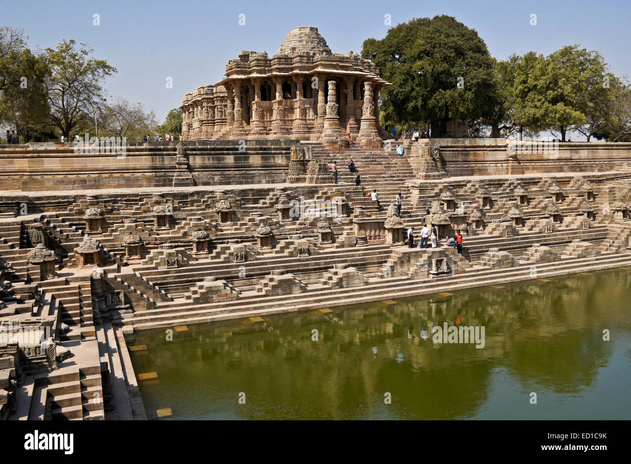 Modhera Sun Temple, Gujarat, India - Stock Image