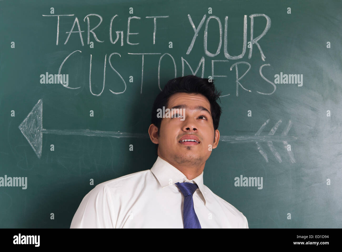 1 indian College Student Business Man - Stock Image