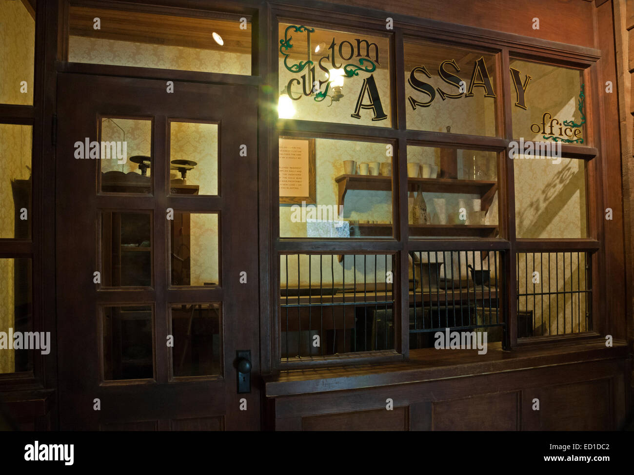 CA02609-00...CALIFORNIA - Old Assay Office exhibit at the Marshall Gold Discovery State Historic Park. - Stock Image