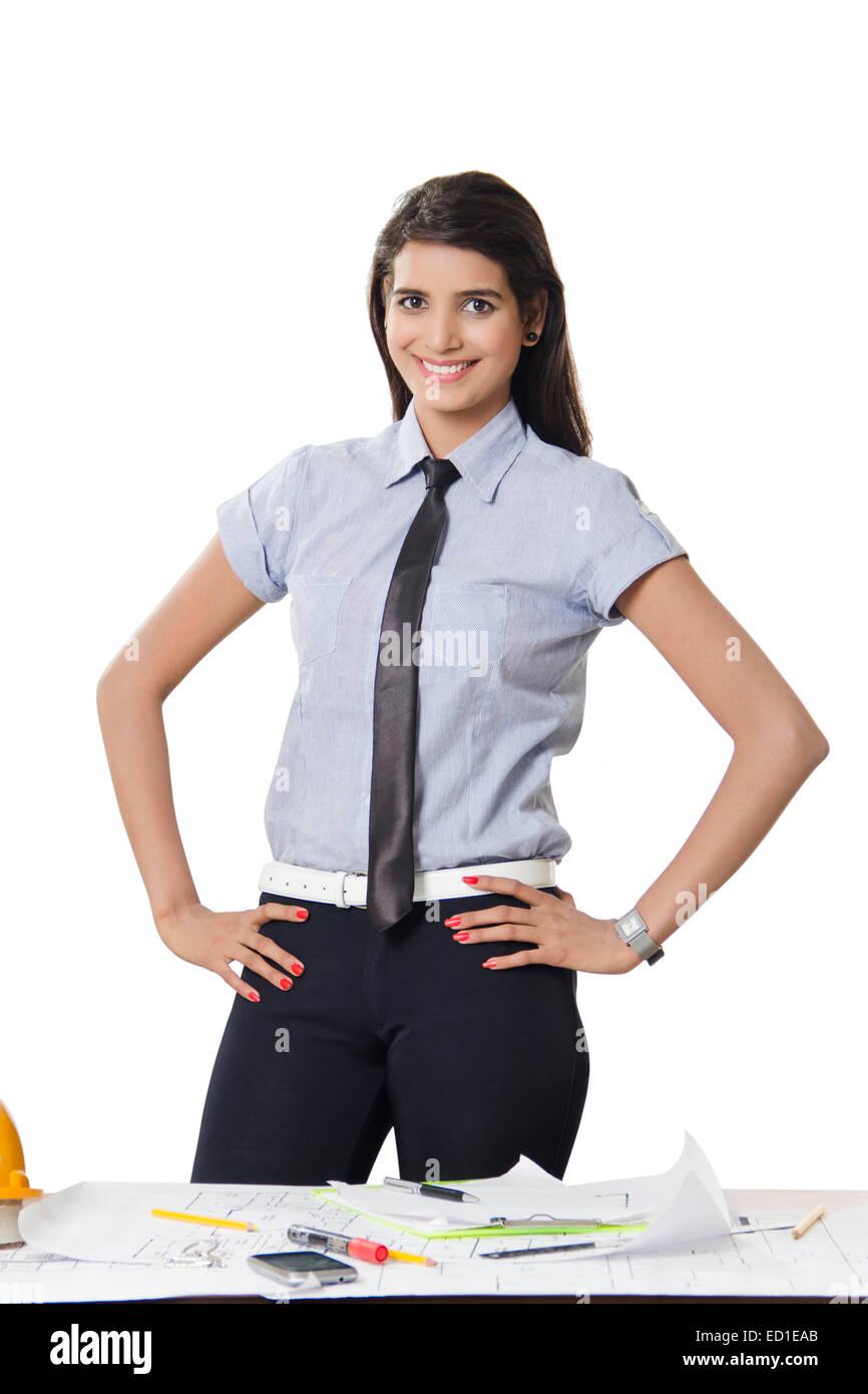 1 indian Architect  lady - Stock Image