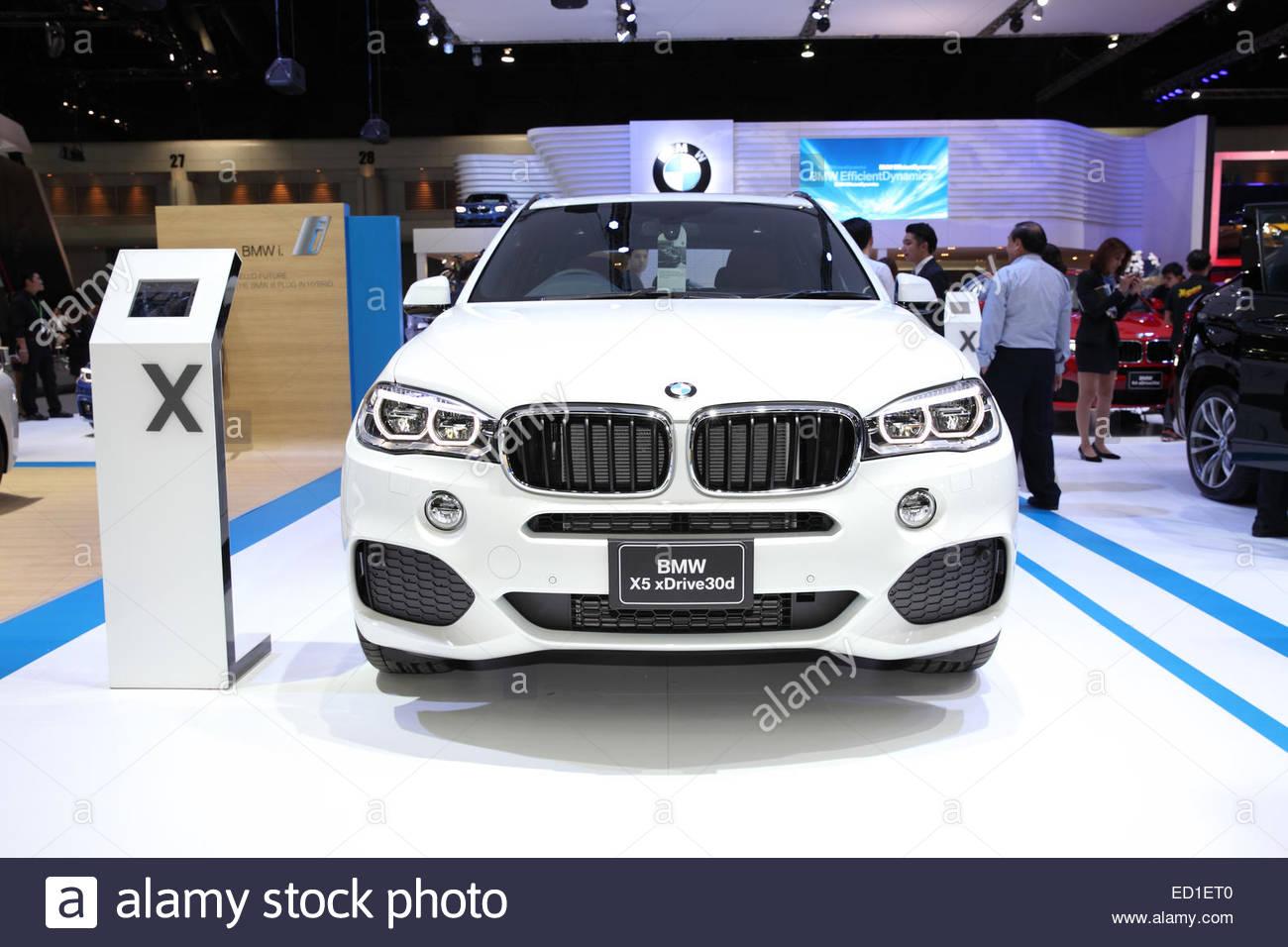BANGKOK - November 28: BMW X5 xdrive30d  car on display at The Motor Expo 2014 on November 28, 2014 in Bangkok, - Stock Image
