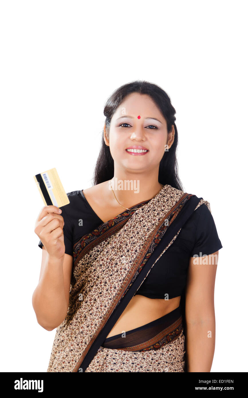 indian housewife lady credit card shopping stock photo 76866125 alamy