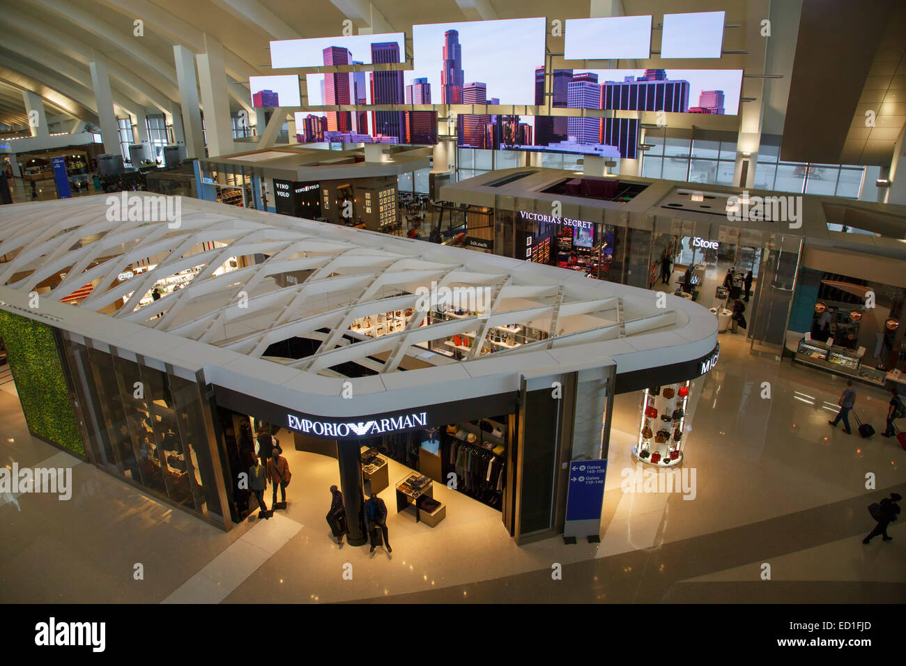 Tom Bradley International Terminal at LAX, Los Angeles, California. - Stock Image