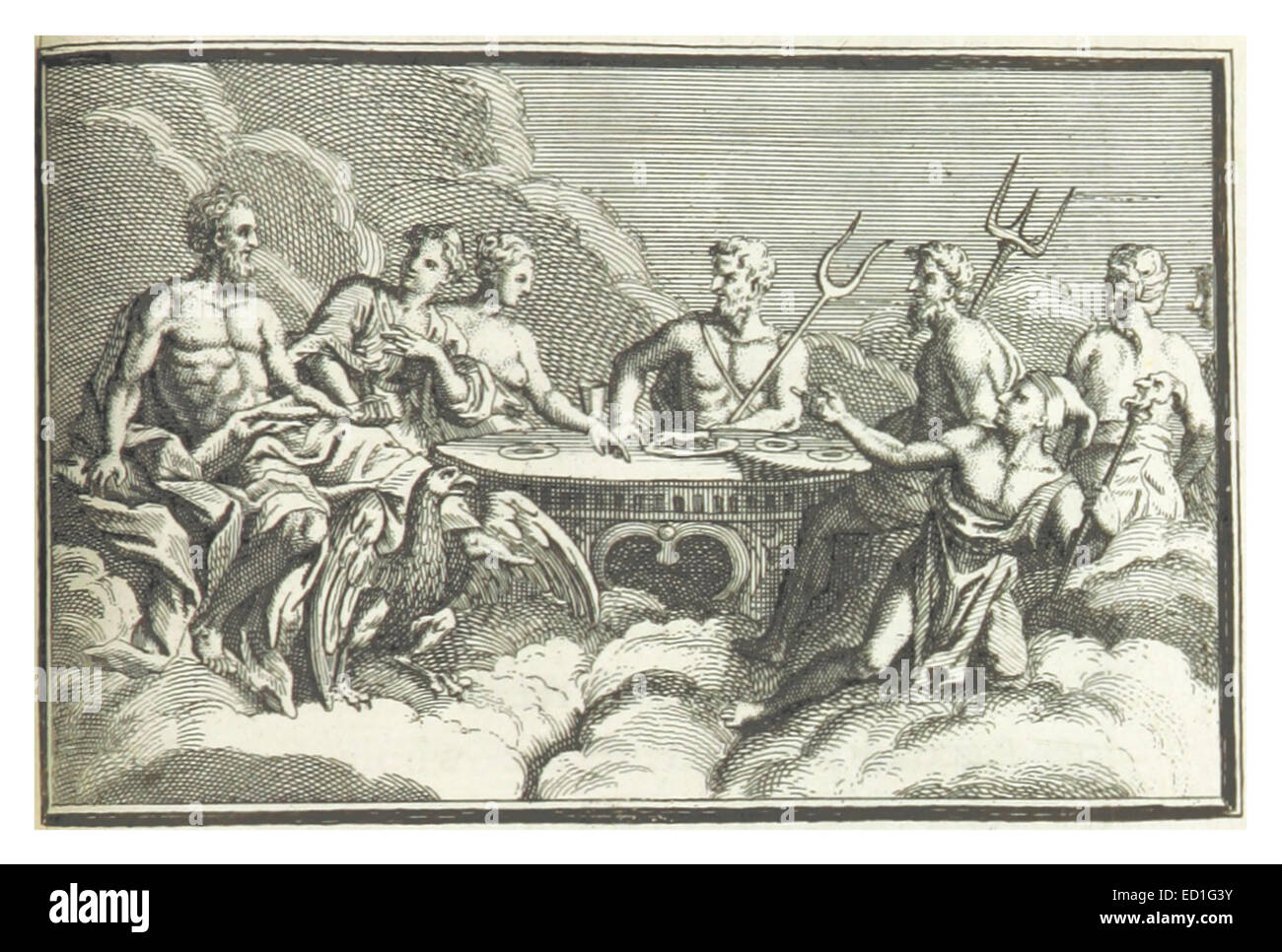 SHEFFIELD(1740) p2.203 A Feast of the Gods - Stock Image