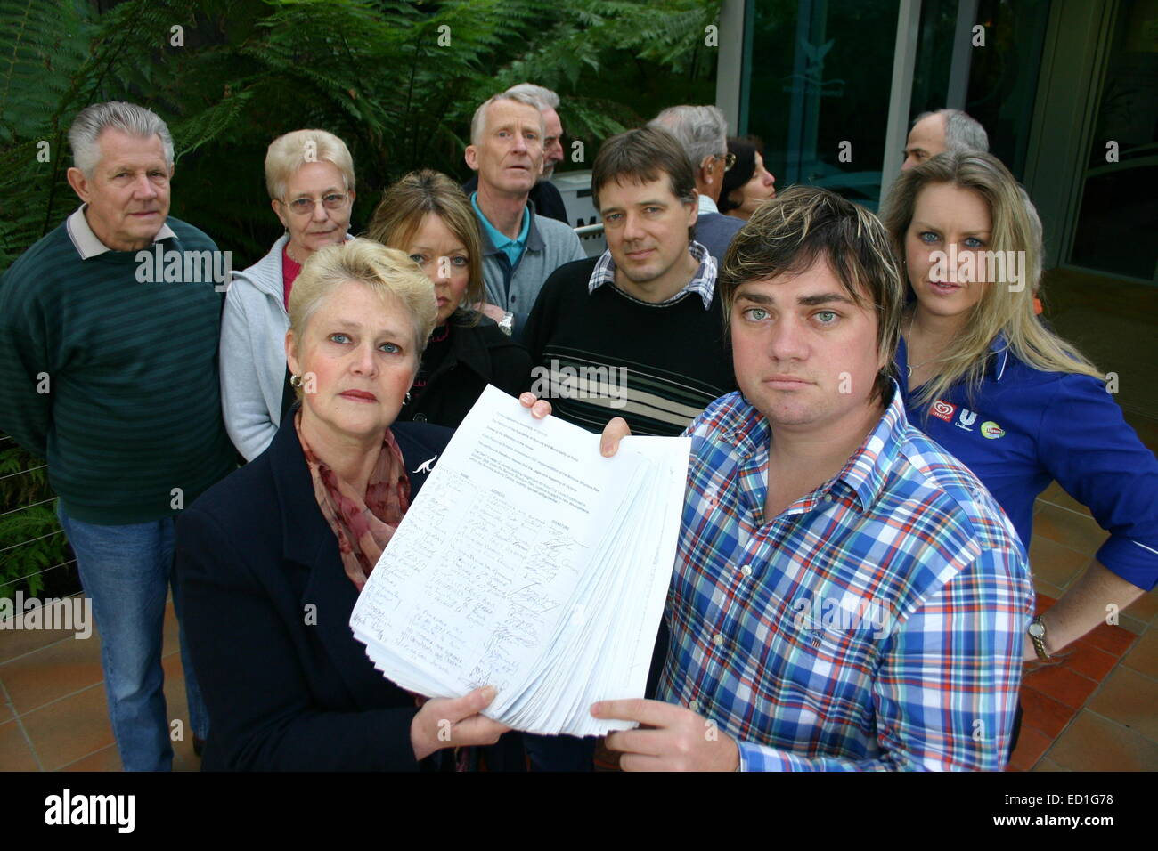 Residents of Boronia, Australia, Lodge 3,000+ Signature Petition Against High Rise Development to Knox Council - Stock Image