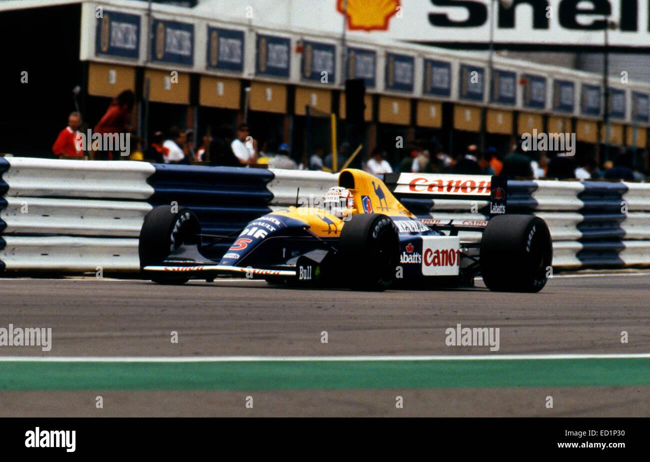 Williams Renault FW14B 1992 British Grand Prix, Nigel Mansell. - Stock Image