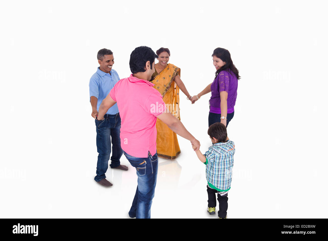 indian Joint Family group fun Stock Photo