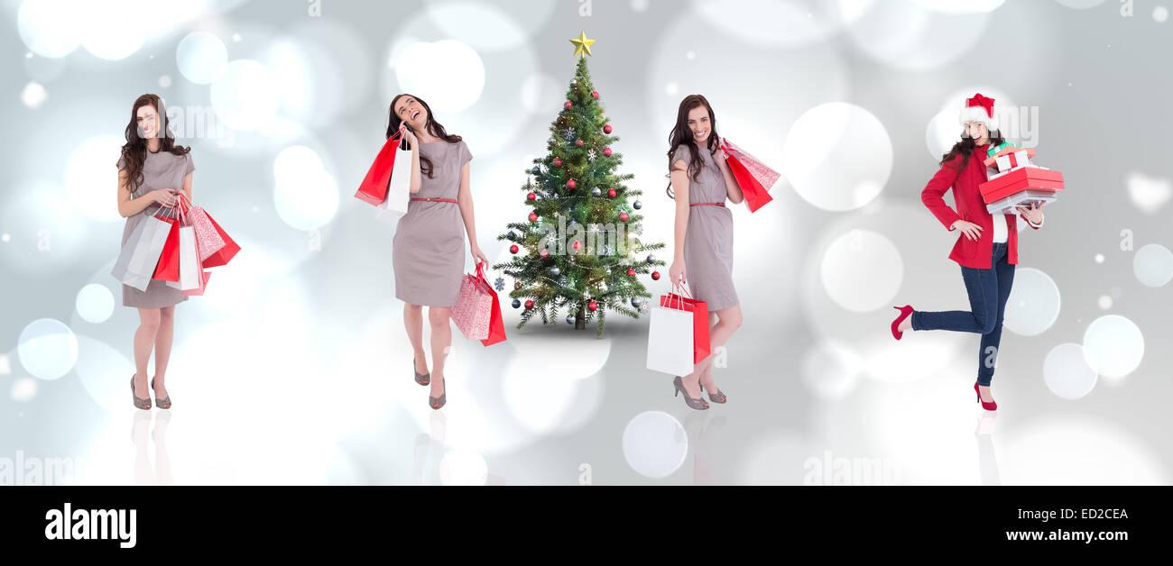 Composite image of different elegant brunettes - Stock Image