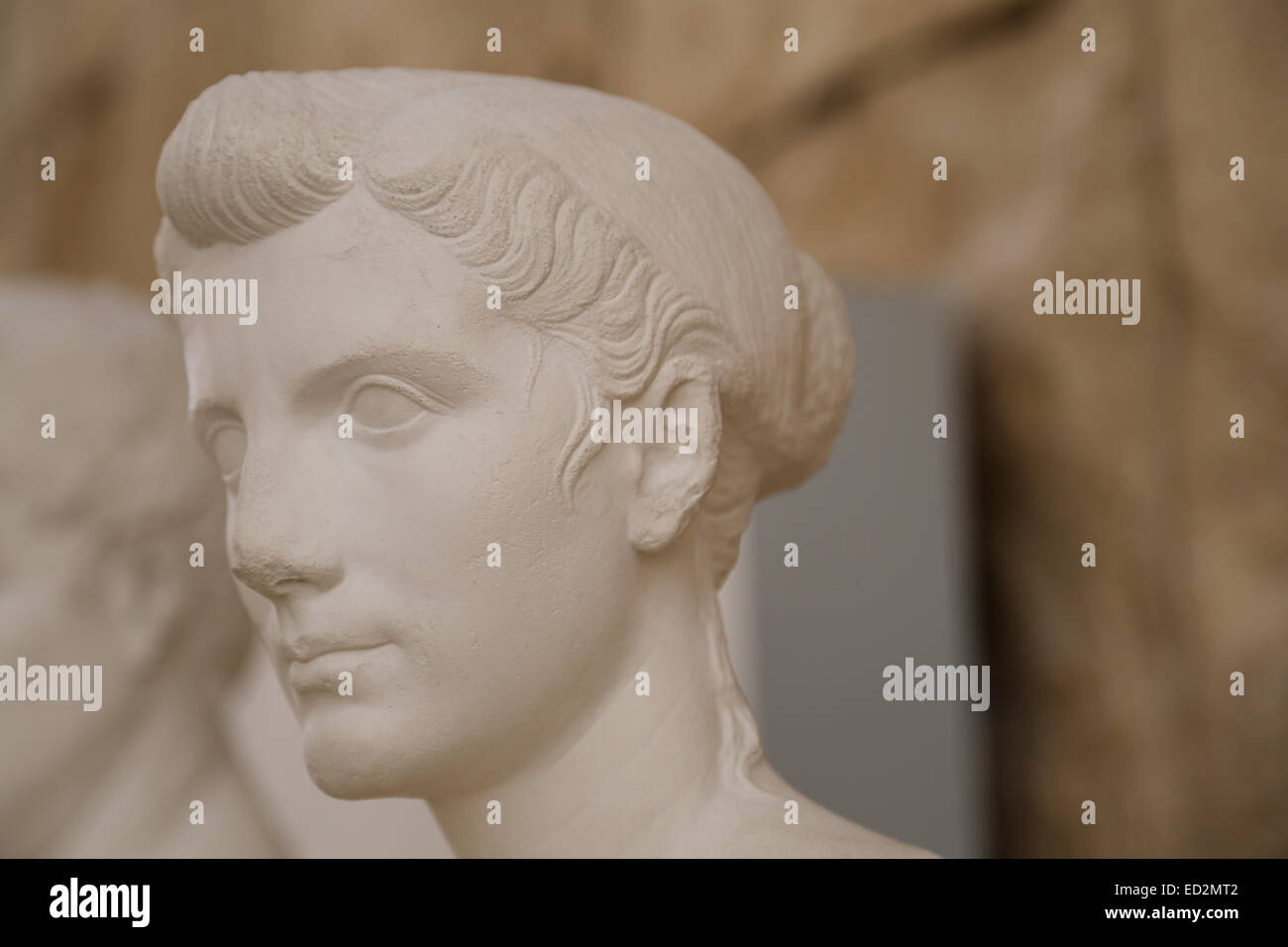 Octavia the Younger (69BC-11BC). Sister of the Emperor Augustus. Fourth wife of Mark Antony. Bus of Octavia Minor. - Stock Image