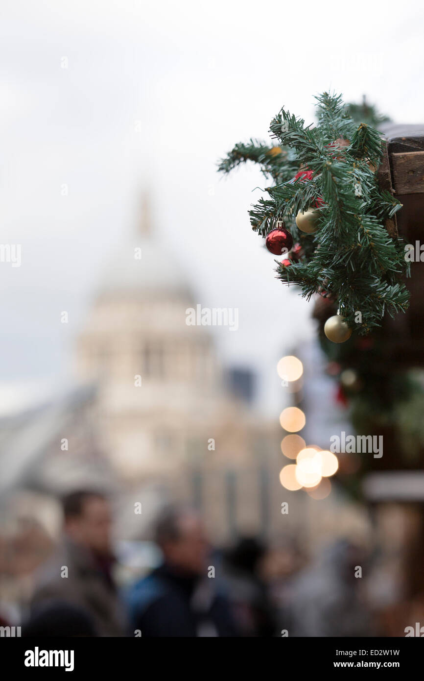 London, UK. 24th Dec, 2014. Detail of a stall of the Christmas ...