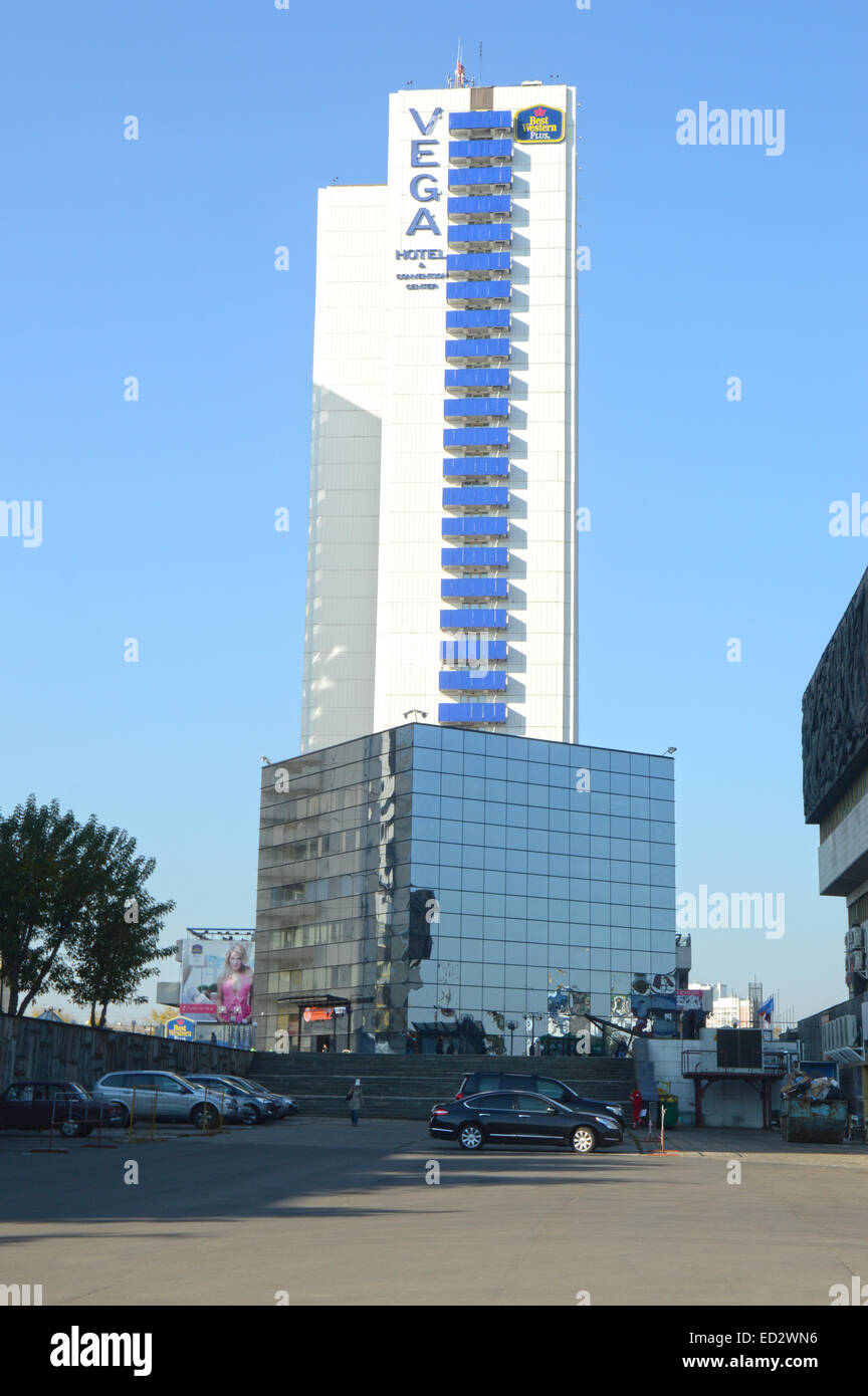 Vega Hotel Moscow Russia Blue sky Stock Photo: 76896098 Alamy