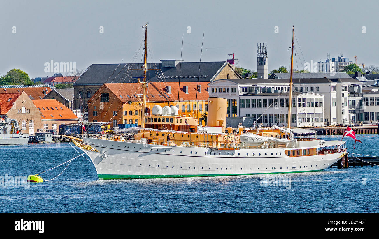 The Royal Yacht Dannebrog Copenhagen Denmark - Stock Image