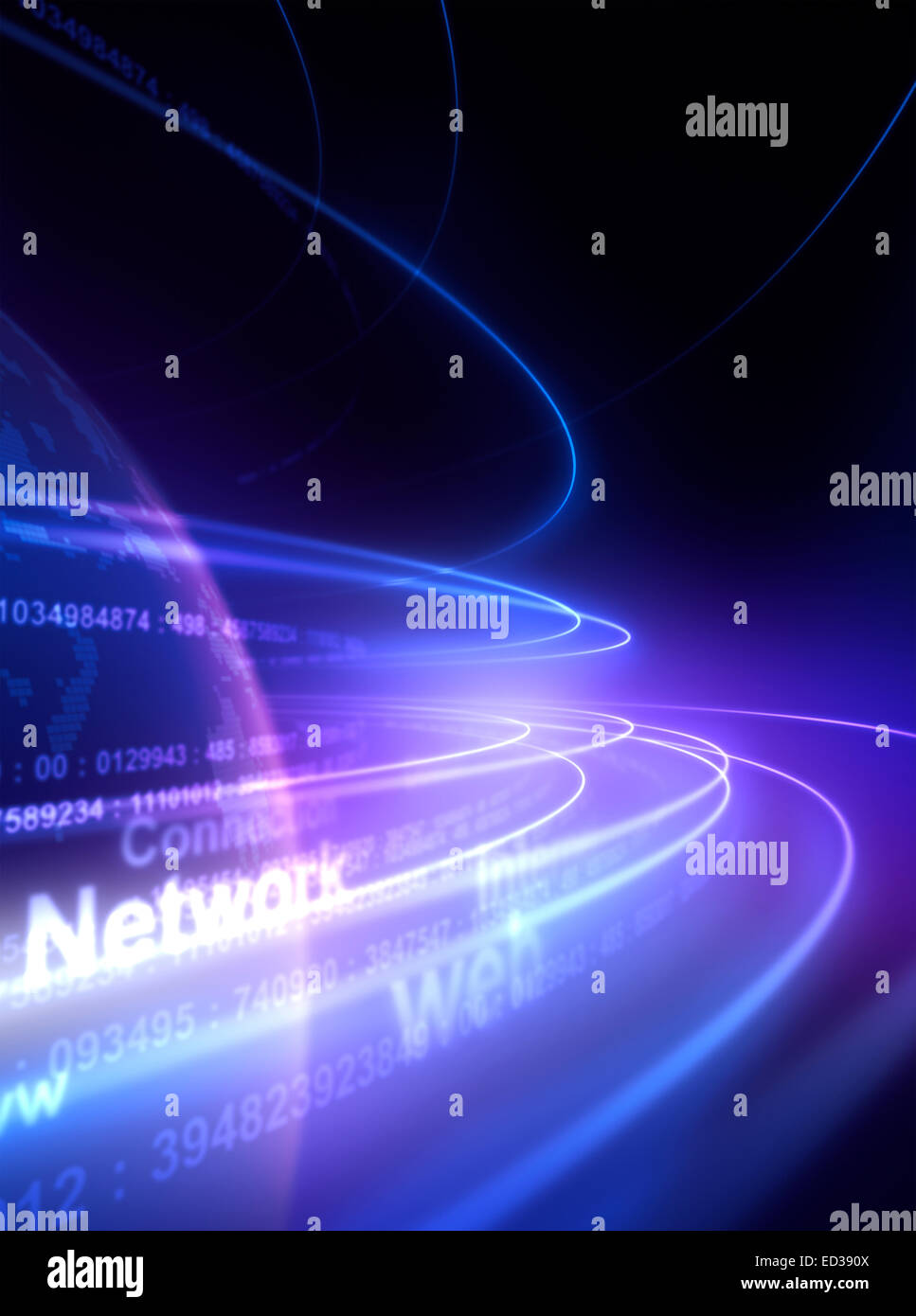Network lines in the space. - Stock Image