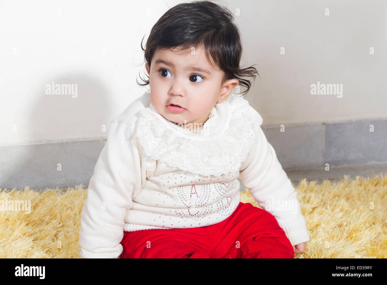 1 indian child Baby - Stock Image