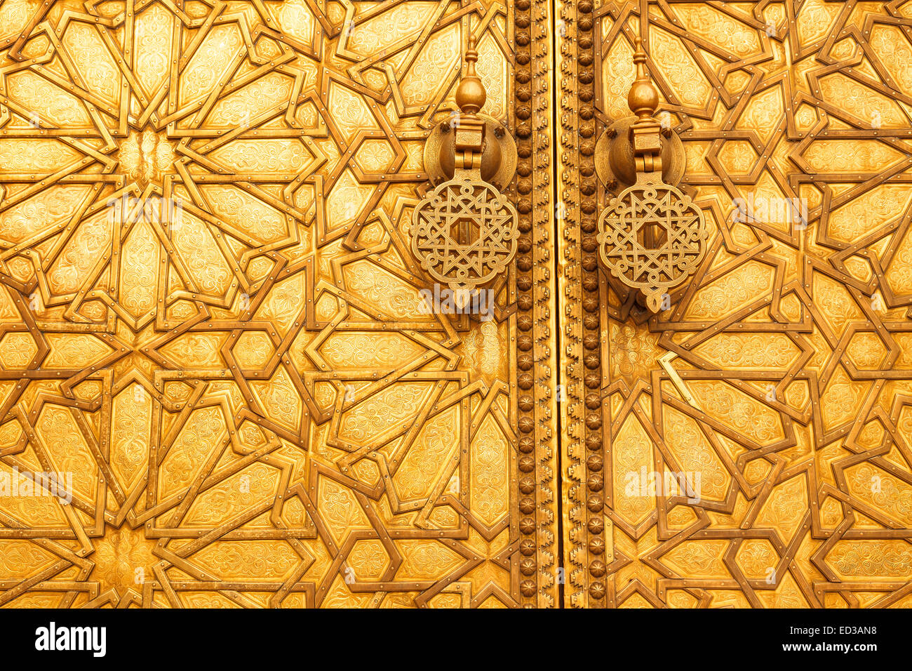 Golden doors. The grand entrance to the Royal Palace in Fez. Fez. Morocco. North Africa. Africa  sc 1 st  Alamy & Golden doors. The grand entrance to the Royal Palace in Fez. Fez ...