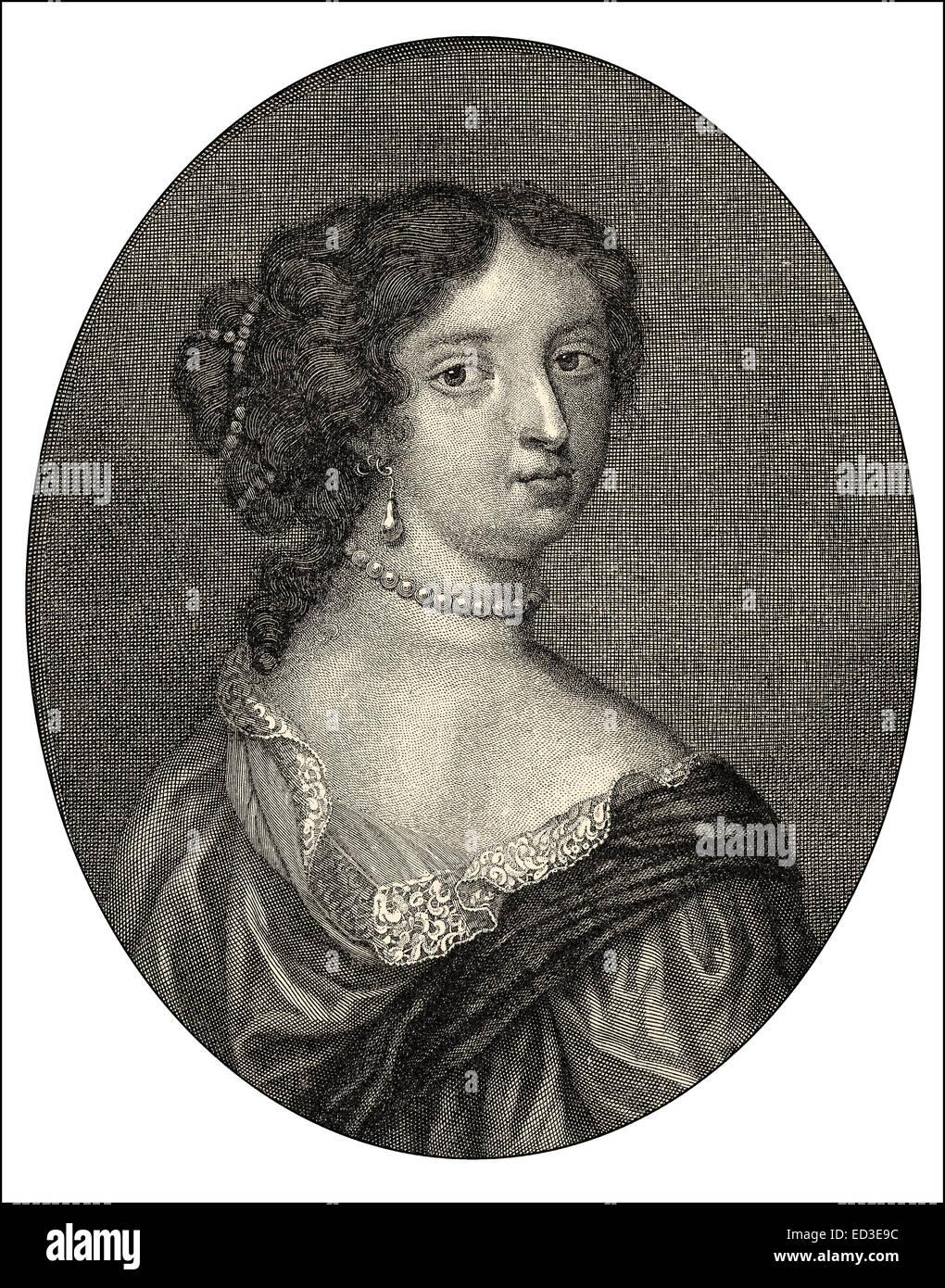 Françoise d'Aubigné, Marquise de Maintenon, or Madame de Maintenon, 1635-1719, the second wife of - Stock Image