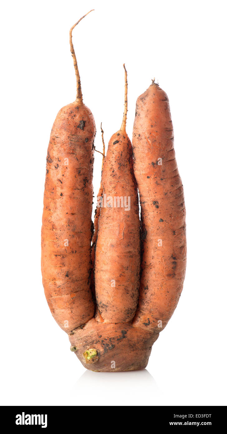 Figured carrot isolated on a white background Stock Photo