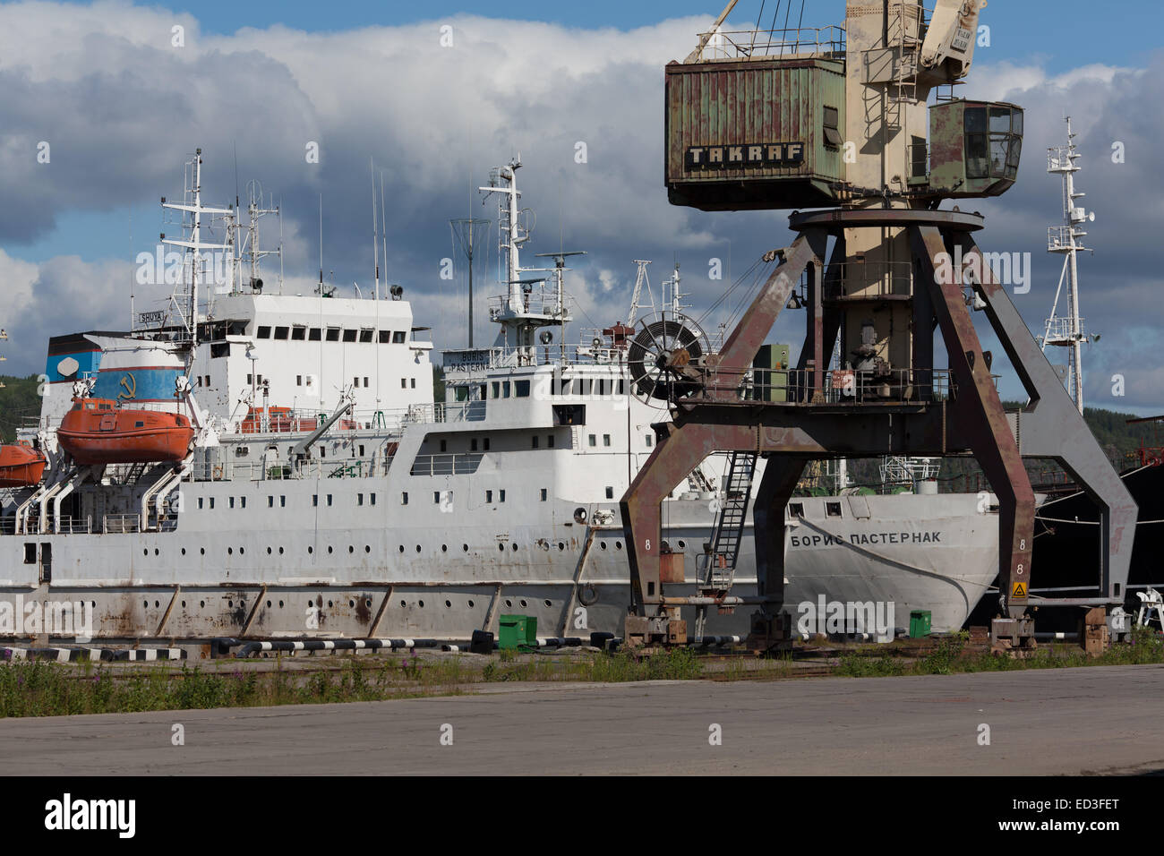 Port of Murmansk - Stock Image