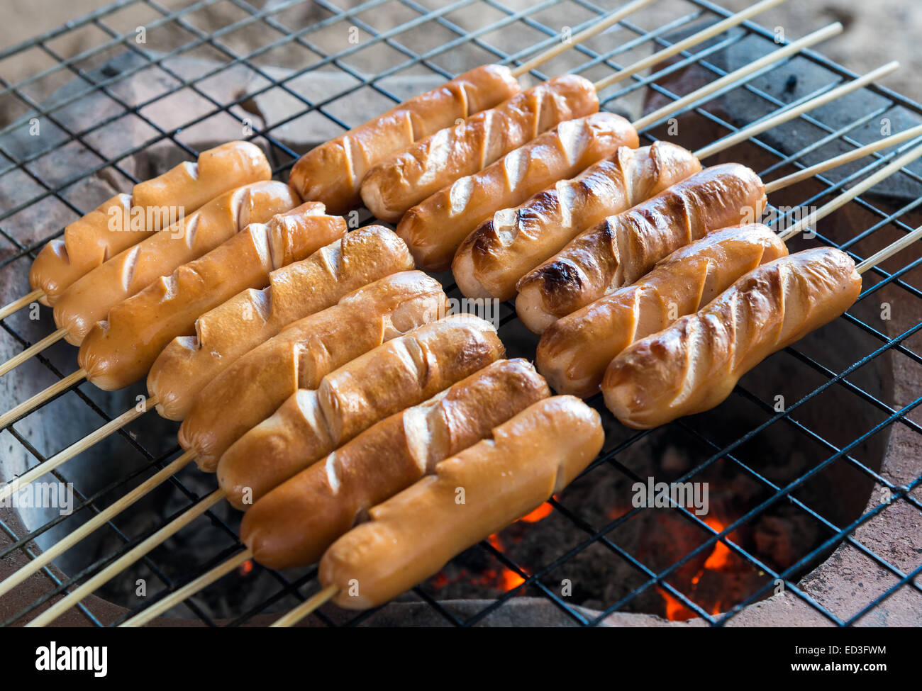 Grill Small Sausage Stock Photos & Grill Small Sausage Stock Images ...