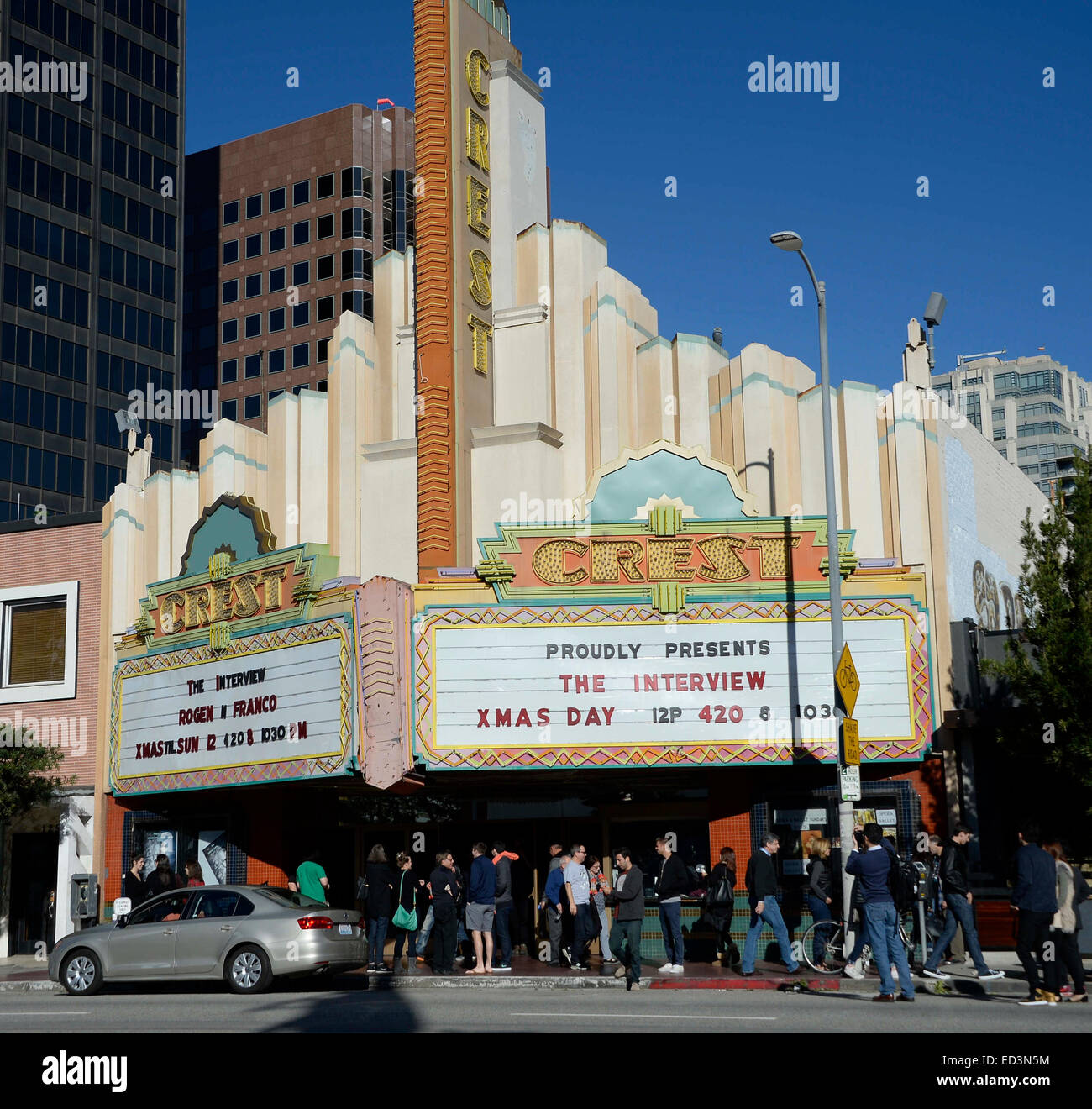 Movie Goers Come Out Of The Crest Theater In Westwood After Seeing Stock Photo Alamy