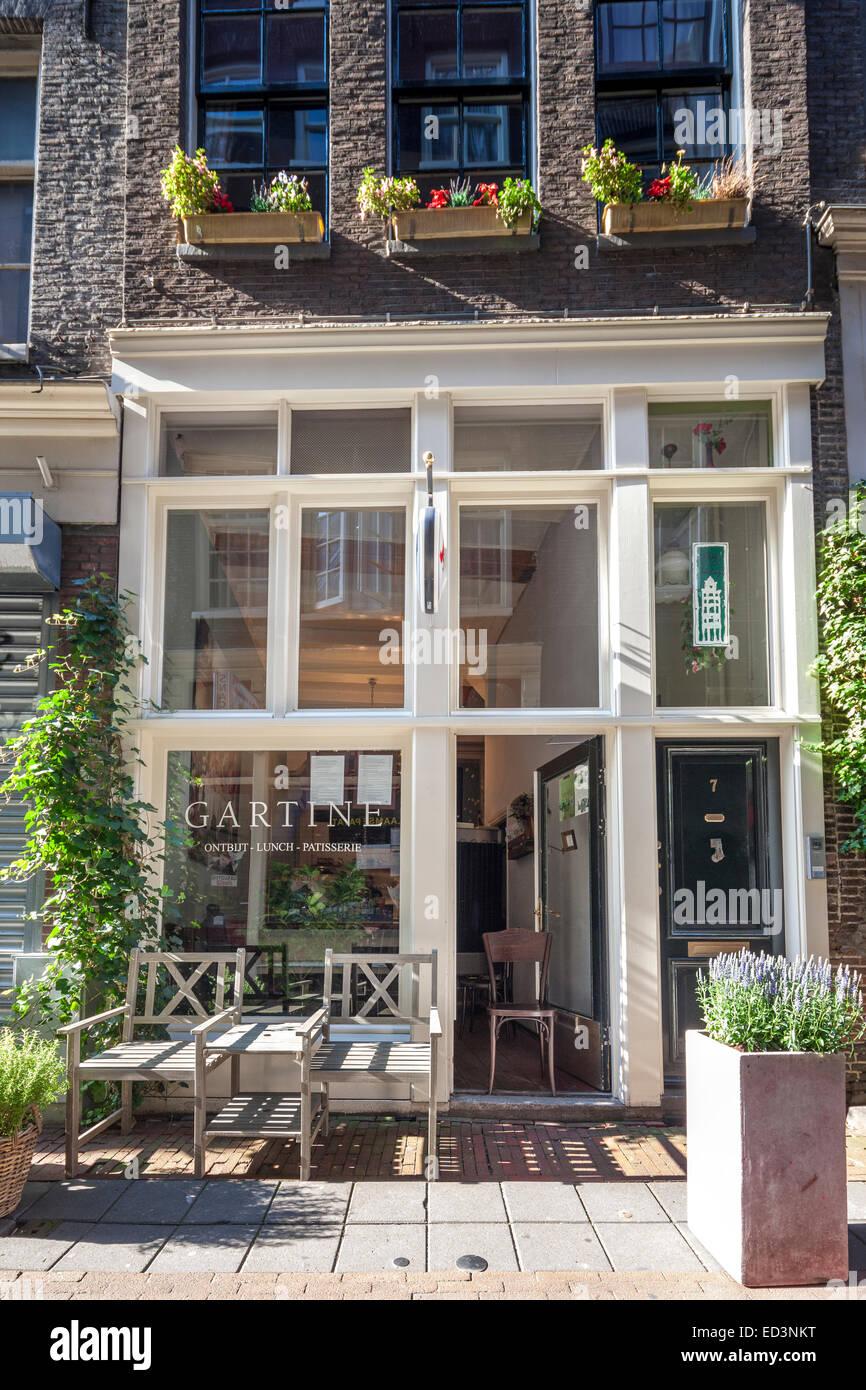 restaurant gartine amsterdam exterior. breakfast lunch high tea