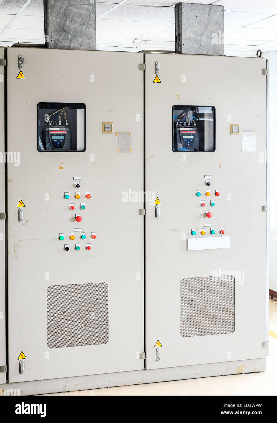 Power control box in the waterwork house Stock Photo: 76918097 - Alamy