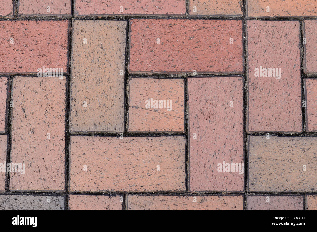 brick wall seamless Vector illustration background - texture pattern for continuous replicate - Stock Image