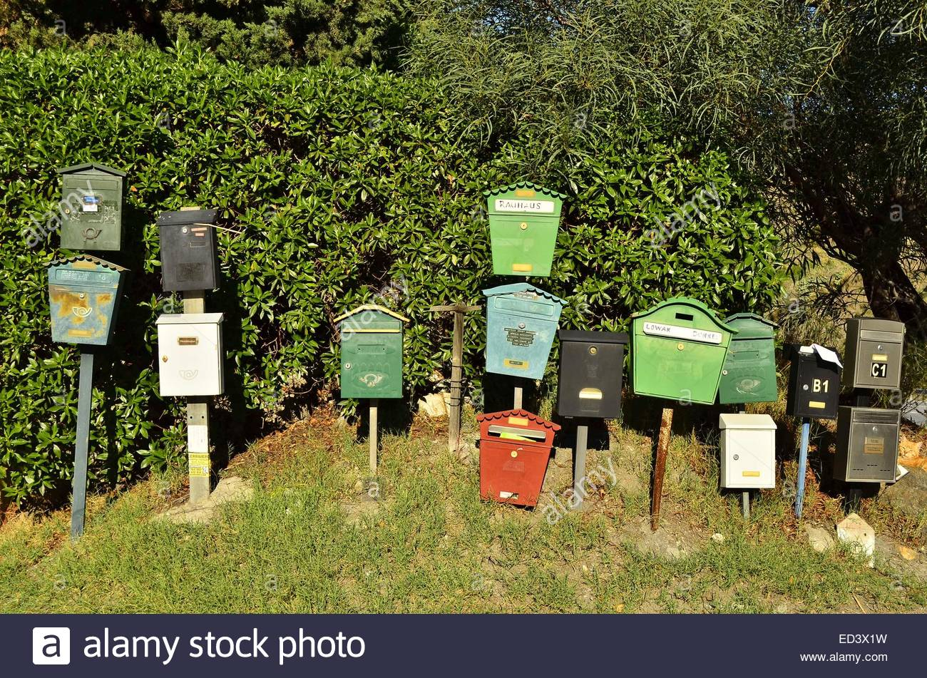 Postboxes near Almunecar Spain Europe - Stock Image