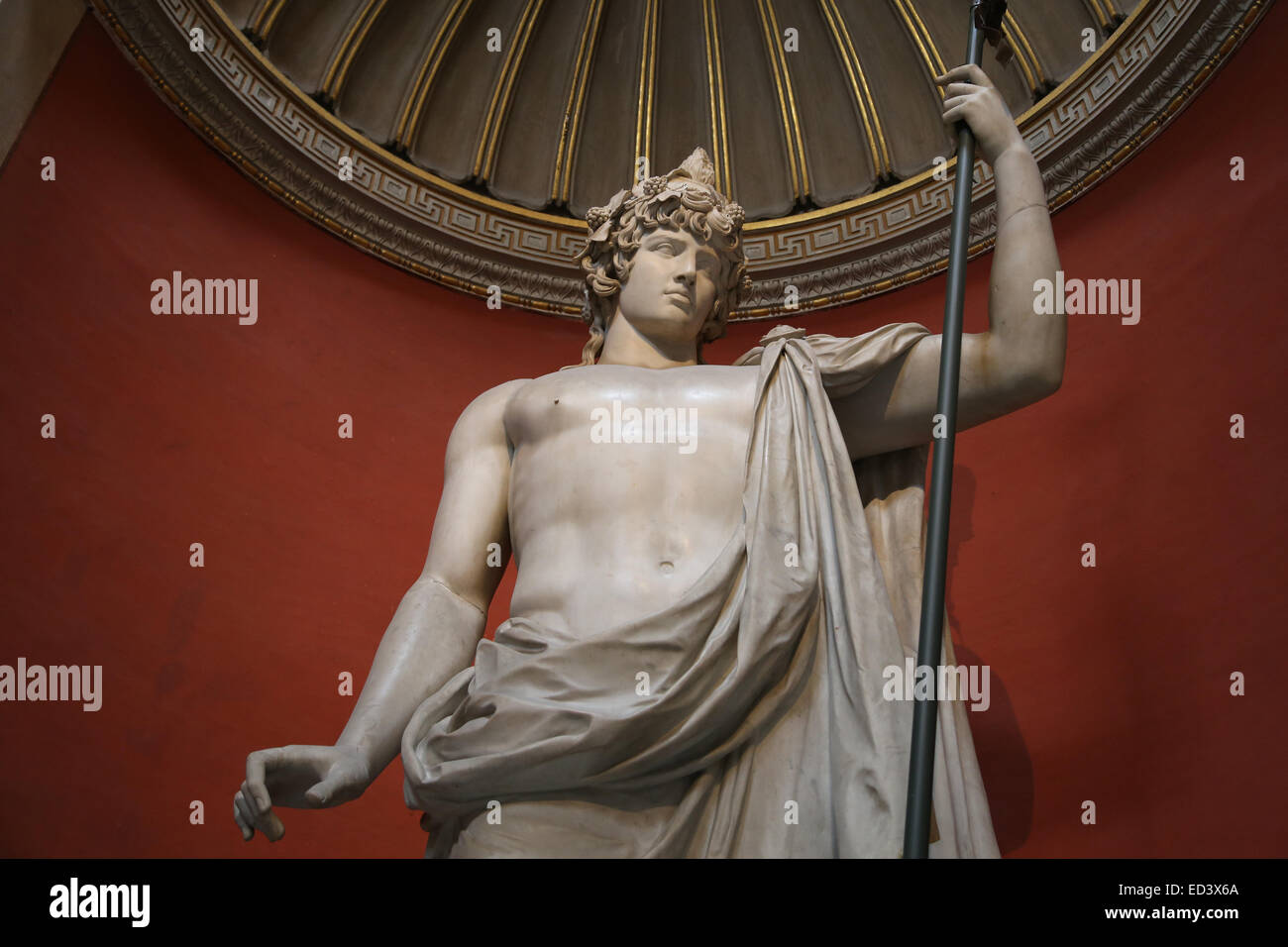 Antinous (111-130). Bithynian Greek youth. Favourite or lover of the emperor Hadrian. Colossal sculpture The Braschi - Stock Image