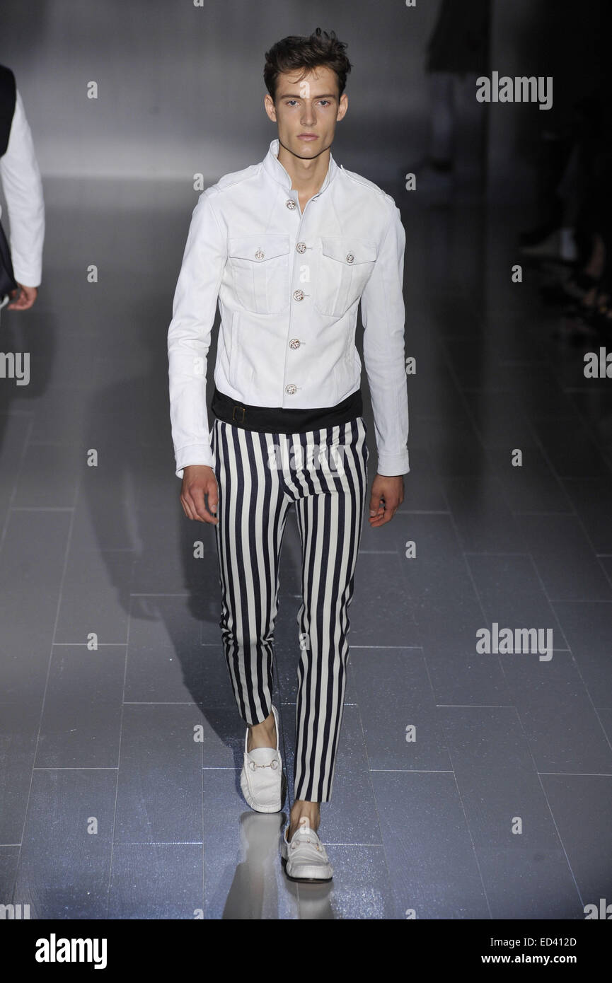 0b9c9187262 Milan Fashion Week Men s Ready-to-Wear Spring Summer 2015 - Gucci - Catwalk  Featuring  Model Where  Milan