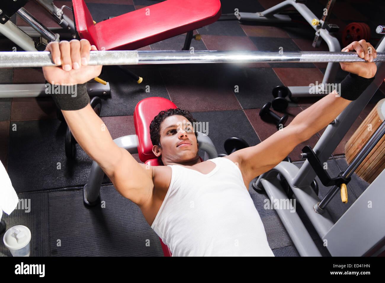 1 indian man gym Body Building Stock Photo: 76921089 - Alamy