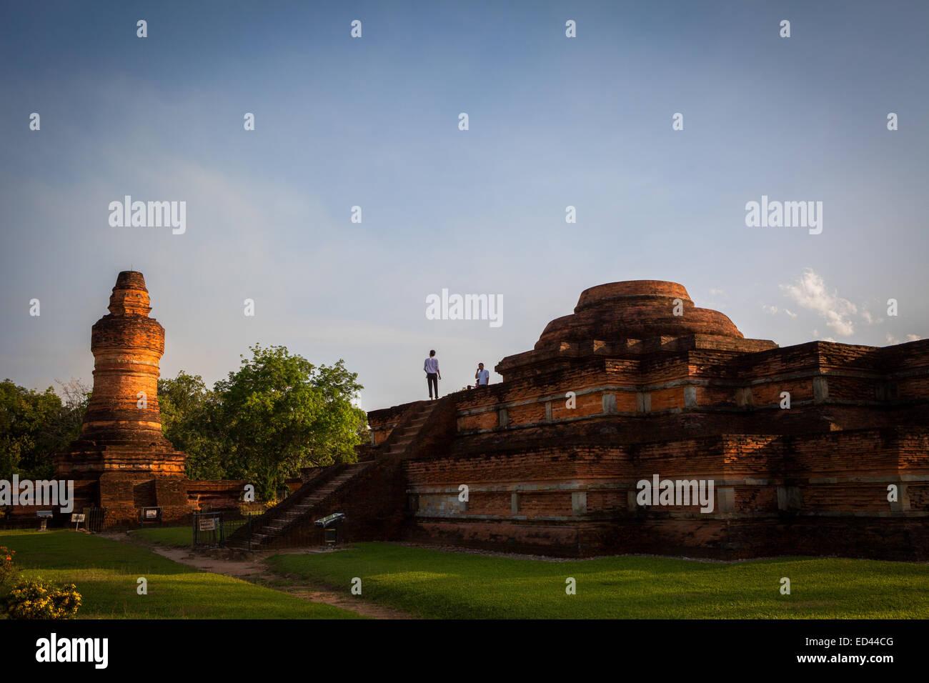 Muara Takus Temple Compound in Riau province, Sumatra, Indonesia. - Stock Image