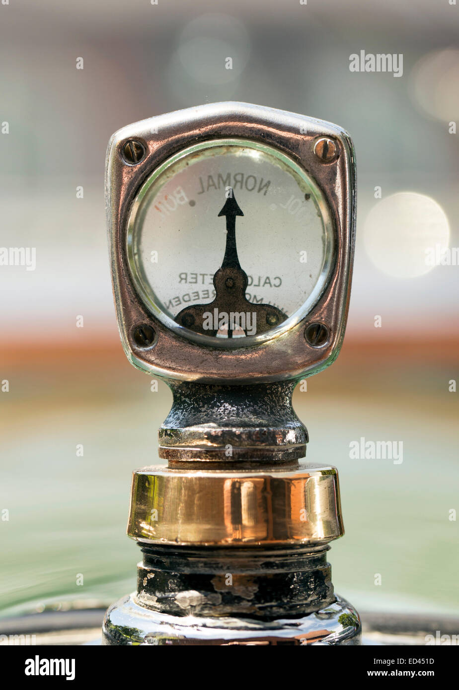 Austin 7 temperature guage - Stock Image